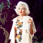 Осенний образ: блондинка за углом