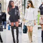 С чем сочетать высокие сапоги, чтобы выглядеть модно?