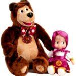 Игрушки Маша и Медведь — веселое обучение с говорящими мультяшками
