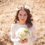 Венок в качестве главного украшения головы невесты