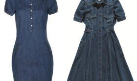 Джинсовые модные платья 2013 года