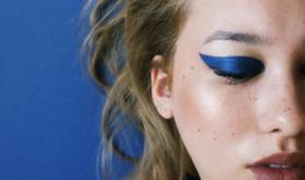 Небесные ласточки: синий в летнем макияже и маникюре